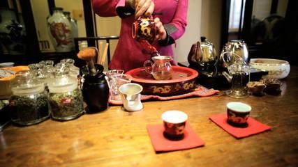 Oriental female Chinese Tea making China