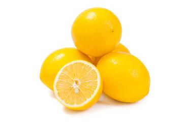 Fresh lemon fruits and his segments