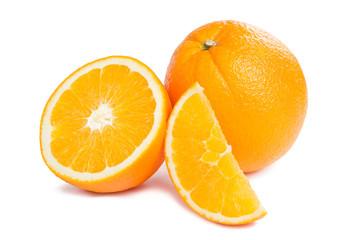 Juicy orange fruit and his segments