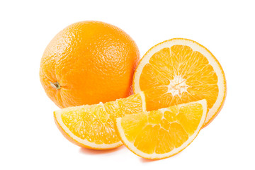 Fresh orange fruit and his segments