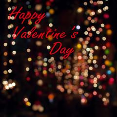 word happy valentine's day
