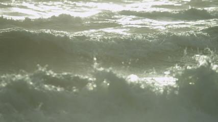 Ocean Waves Surf Spray Full Frame