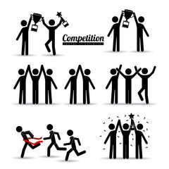 Competition design, vector illustration.