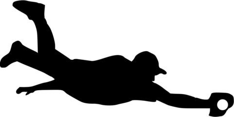 Baseball Player Catcher Silhouette