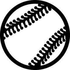 Baseball Outline Lines