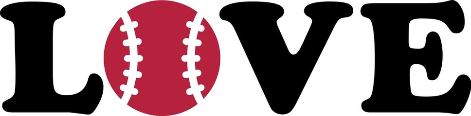 Baseball Love with Ball