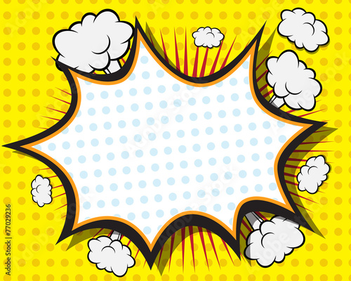 Comic Book Action Bubbles Comic Book Speech Bubble