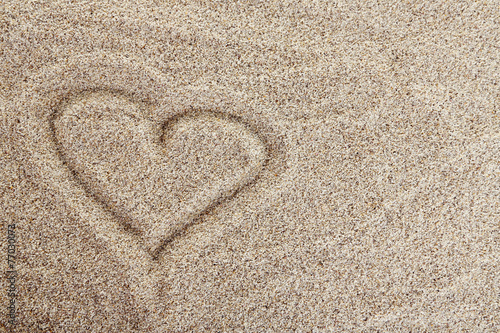 canvas print picture Picture on Sea sand background