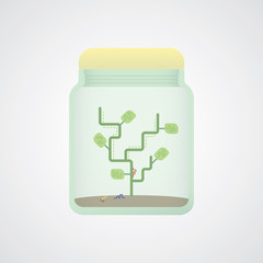 abstract tree in jar