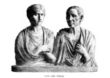 Victorian engraving of Cato and Porcia