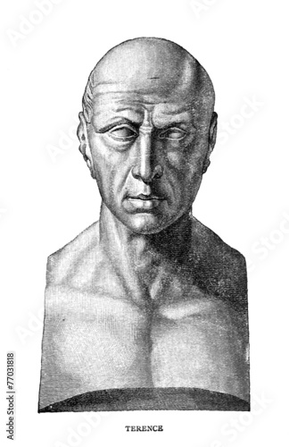 Victorian engraving of the ancient Roman playwright Terence
