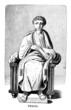Leinwanddruck Bild - Victorian engraving of a depiction of Vergil