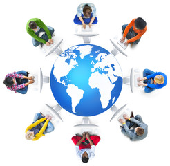 World Map Global Business Globalization Earth Concept