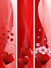 Valentine Day banners