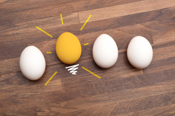 Idea - bulb glow egg- Stand out