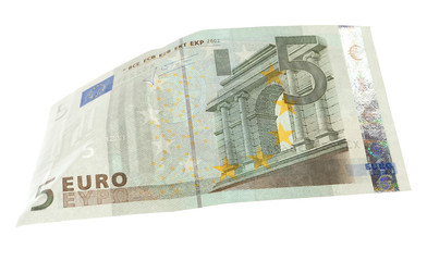 Euro banknote isolated on white