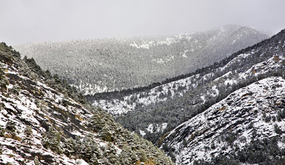 Draw-well in La Massana. Principality of Andorra