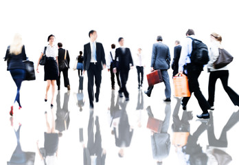 Business People Rush Hour Commuting Concept