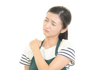 肩痛を訴える主婦