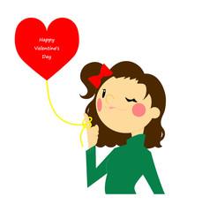 バレンタイン ハートの風船