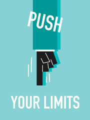Words PUSH YOUR LIMITS