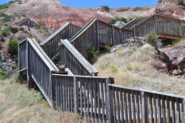 Tourist walking path. Hallett Cove Conservation, Adelaide.