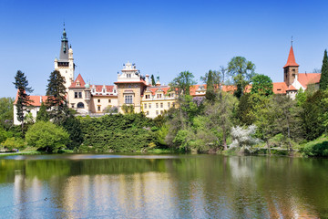 castle and gardens Pruhonice near Prague, Czech republic