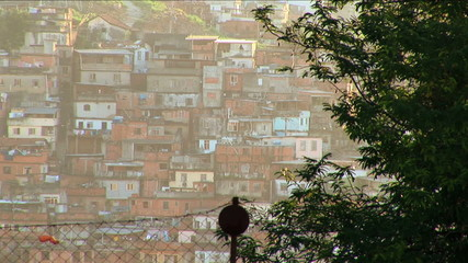 Hillside favela poor housing communities poverty Urban area Rio de Janeiro