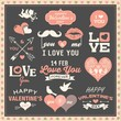 Valentine's day labels, icons and design elements collection - 77043487