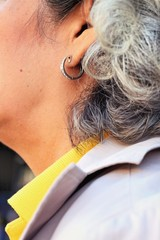 White Hairs on the back of the elderly.