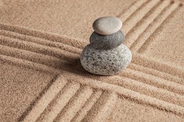 Japanese Zen stone garden