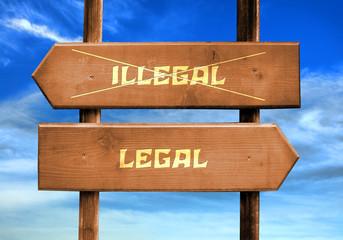 Strassenschild 29 - Legal