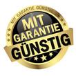 Button with banner mit Garantie Günstig