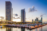 Miami south beach street view with water reflections and the mar - Fine Art prints