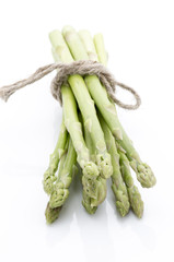 Asparagus isolated on the white background.