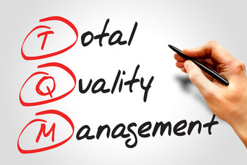 Total Quality Management (TQM), business concept acronym
