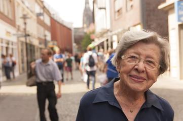 Senior Woman in the Street