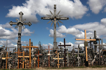 Hill of Crosses in Lithuania.