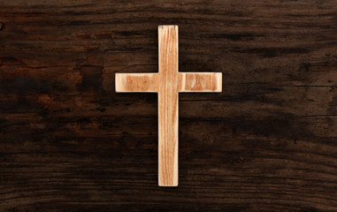 cross christian wood wooden background old rustic