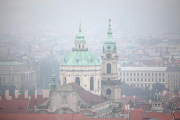 Saint Nicholas Church in Mala Strana in Prague, Czech Republic.