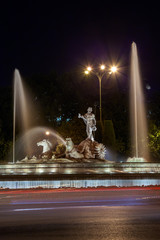 The fountain of Neptune in Madrid