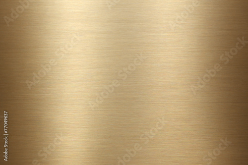 Brushed gold metal background texture - 77049637