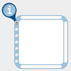 perforated frame for any text and info symbol