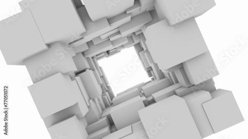 Background with cubes.Alpha matte © dskalex