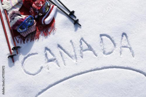 Canvas Wintersporten Canada ski background