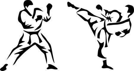 stylized karate