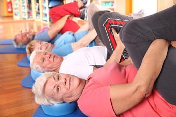 Entspannung im Seniorenkurs