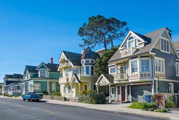 Street in Pacific Grove, Monterey, California, USA