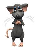 Cartoon mouse with big sad eyes.