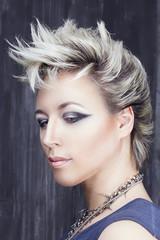 Beauty portrait in punk style